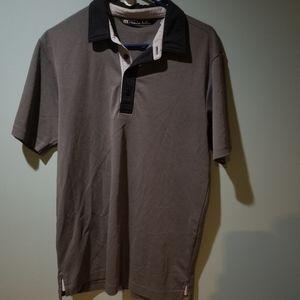 Travis Matthew gray black polo shirt Size m